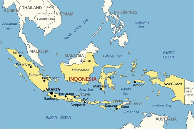 Indonesia Map I Stock -508170639